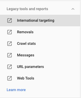 Google Search Console: Legacy Tools