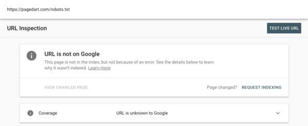 Google Search Console Inspect