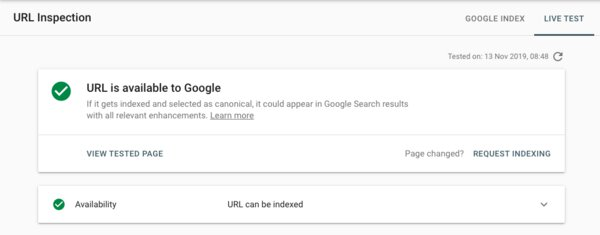 Google can read the URL