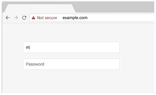 Not Secure on data entry